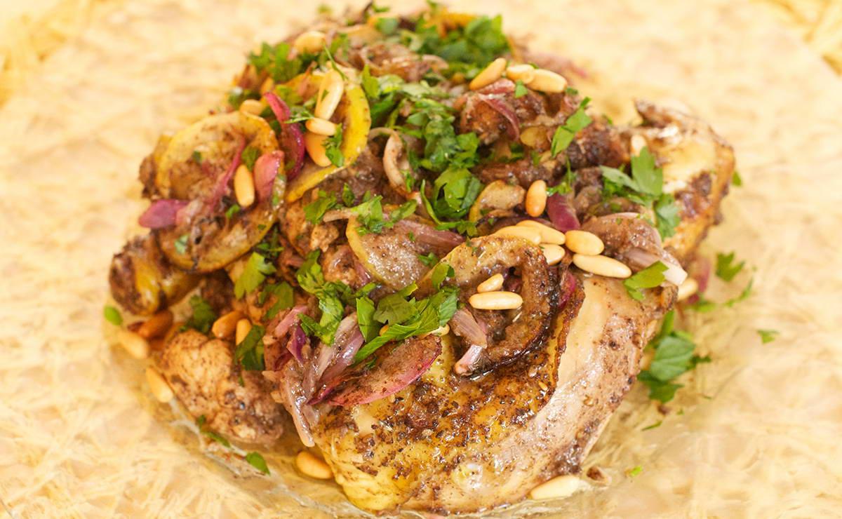 دجاج مشوي بالسماقوالزعتر في 15 دقيقة - وصفة 2018
