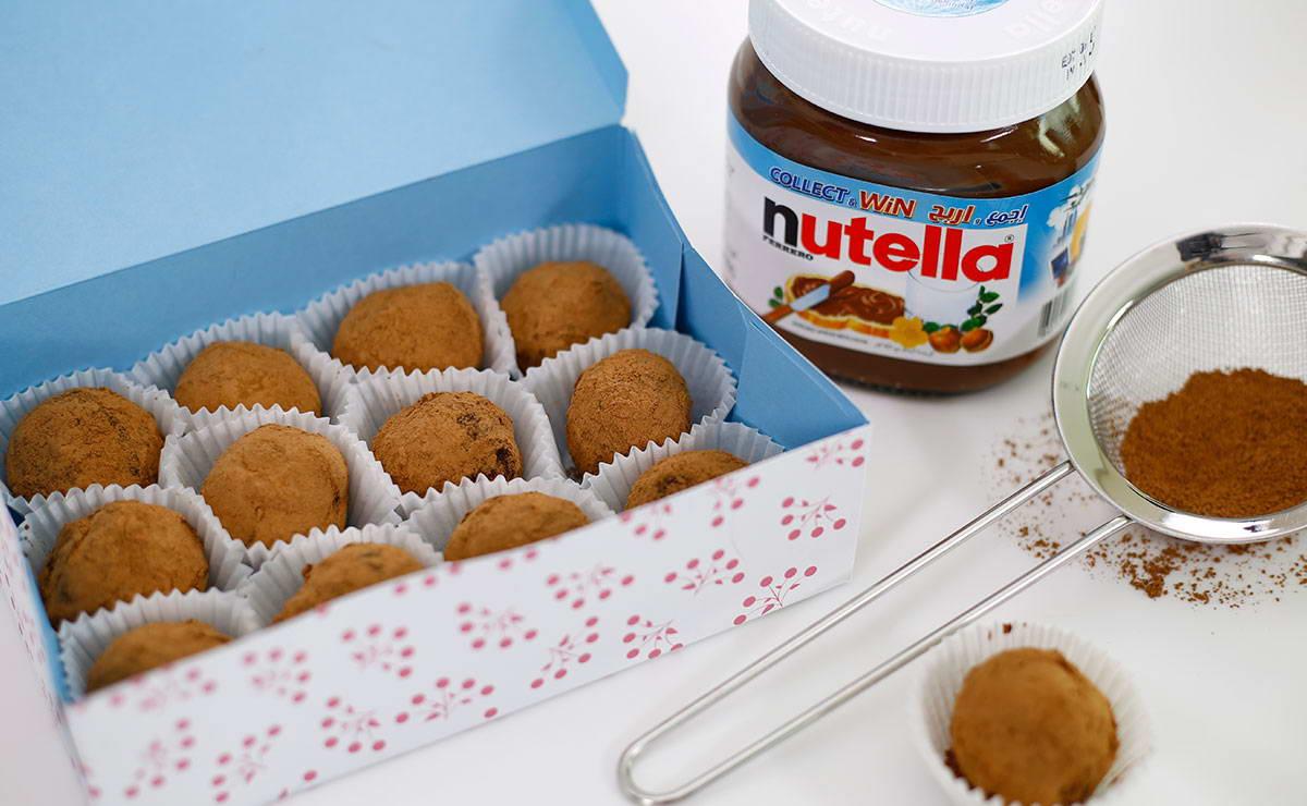 ترافل الشوكولاتة بالنوتيلا في 10 دقيقة - وصفة 2020