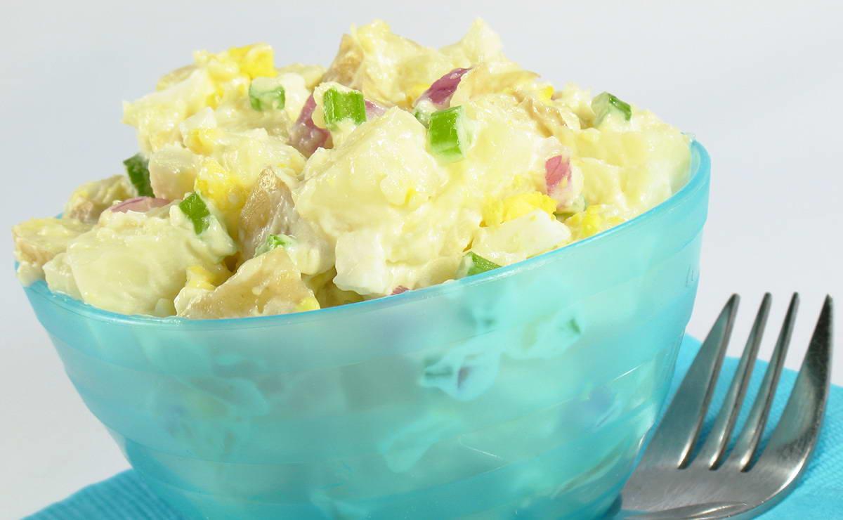 سلطة البطاطس بالمايونيز في 20 دقيقة - وصفة 2019