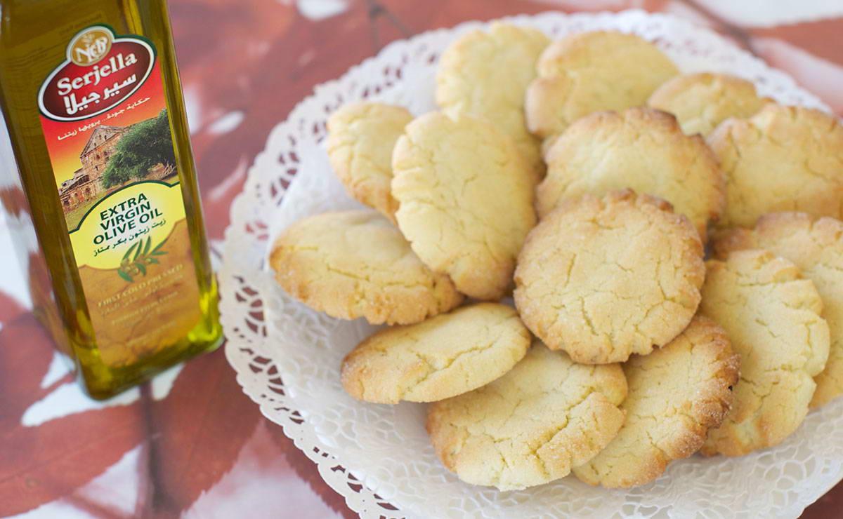 كوكيز الليمون وزيت الزيتون في 20 دقيقة - وصفة 2020