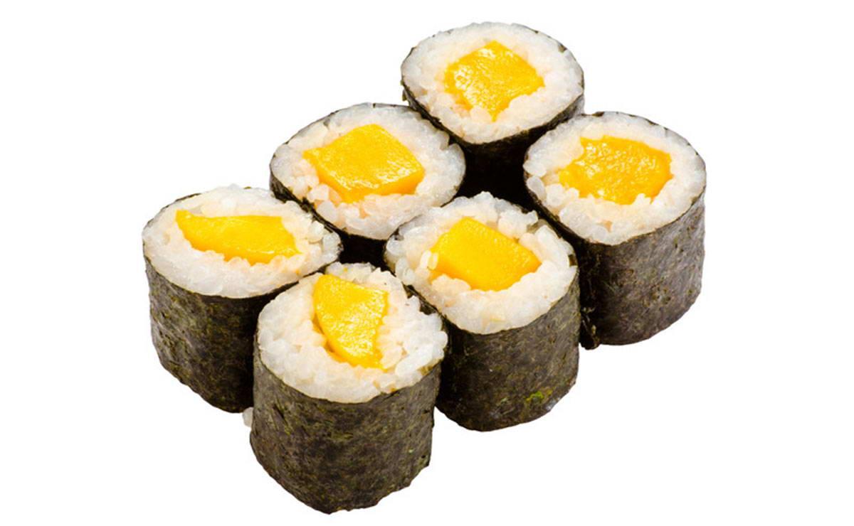 طريقة عمل السوشي ماكيمونو مانجو رول في 10 دقيقة - وصفة 2018